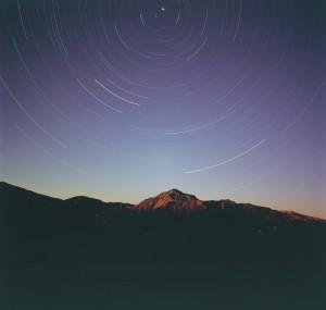 新穂高,紅葉,夜空