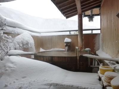 冬、貸切露天風呂