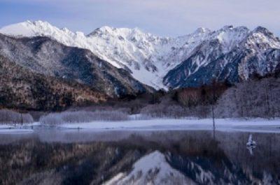 冬 上高地 トレッキング 登山