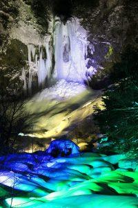 平湯大滝,結氷まつり,ライトアップ